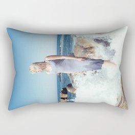 Ocean's Pulse Rectangular Pillow