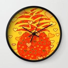 I Love Pineapple Wall Clock