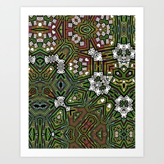 Cactus patch Art Print