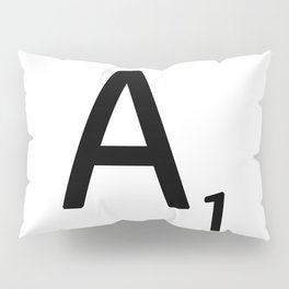 Letter A - Custom Scrabble Letter Wall Art - Scrabble A Pillow Sham