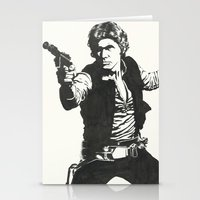 han solo Stationery Cards featuring Han Solo by Johannes Vick
