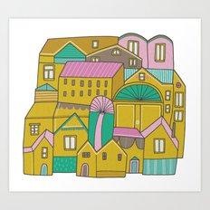 Pattern Project #2 / Happy Town Art Print