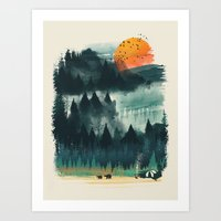 camp Art Prints featuring Wilderness Camp by dan elijah g. fajardo