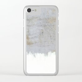 Painting on Raw Concrete Clear iPhone Case