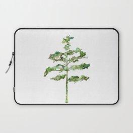 Pine Tree #3 in Green - Ink painting Laptop Sleeve