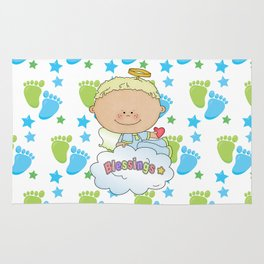 Baby Feet Angel Blessing Rug
