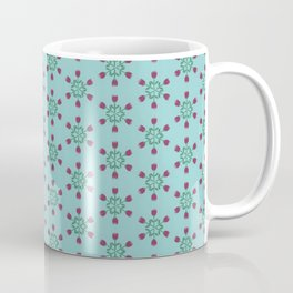 Retro floral compass- tulips Coffee Mug