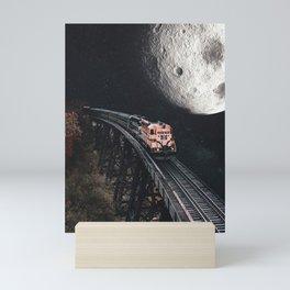 One way ticket to the Moon Mini Art Print