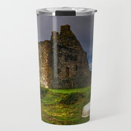 Lochranza Castle, Isle of Arran, Scotland Travel Mug