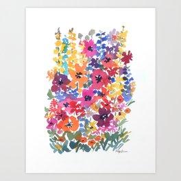 Bright Summer Garden Art Print