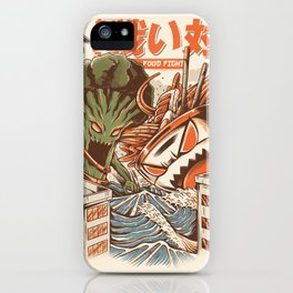 Kaiju Food Fight iPhone Case
