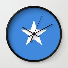 Somalian national flag - Authentic color and scale (high quality file) Wall Clock