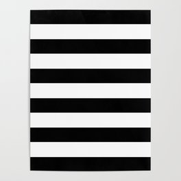 Simply Stripes in Midnight Black Poster