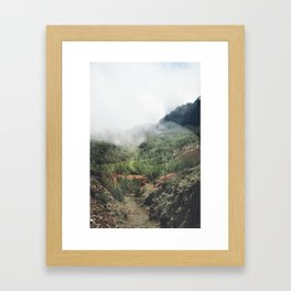 Mountain forest. Framed Art Print