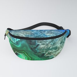 Turquoise Green Agate Mineral Gemstone Fanny Pack