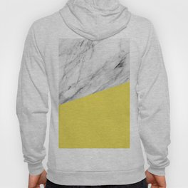 Marble with Meadowlark Yellow Color Hoody