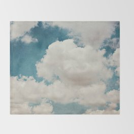 January Clouds Throw Blanket