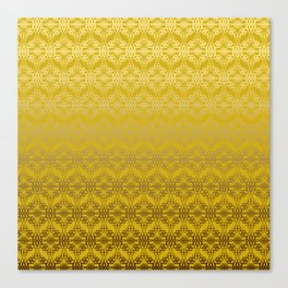 Yellow weaves pattern Canvas Print