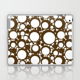 Brown Geometric Abstract Modern Circle Art Laptop & iPad Skin