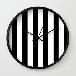 Blu Stripes Wall Clock