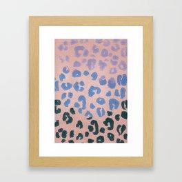 Leopard Haze Framed Art Print