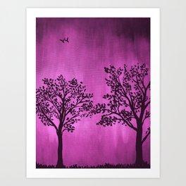 Purple Silhouette Art Print