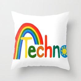 Techno Throw Pillow