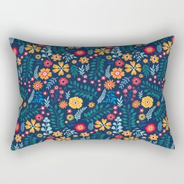 "Cute Floral pattern of small flowers. ""Ditsy print"". Rectangular Pillow"