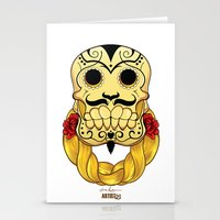 hip hop Stationery Cards featuring Hip Hop is Muerto by Artist53