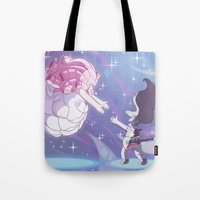 greg guillemin Tote Bags featuring Greg and Rose by Katelyn