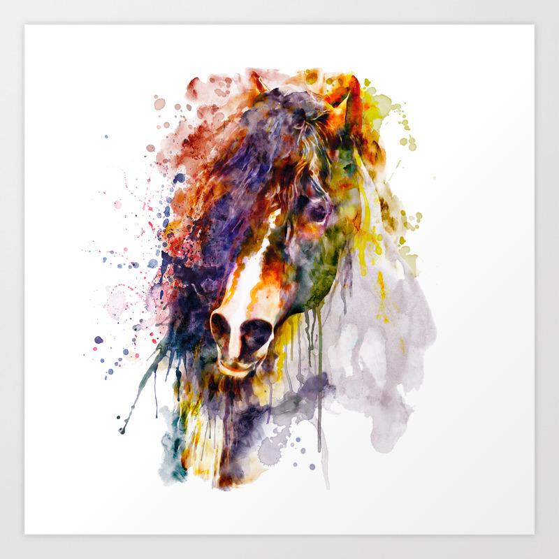 Abstract Horse Head Art Print By Marianvoicu Society6