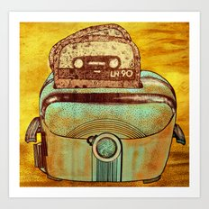 toasted tapes Art Print