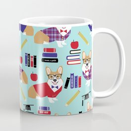 Corgi teacher school education corgis abc's 123's pet gifts Coffee Mug