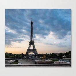 Eiffel Tower Paris Before the Storm Canvas Print