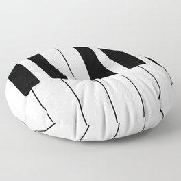 Piano Keys - Music Floor Pillow
