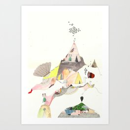 Kids Discover Magic Mountain Art Print