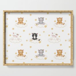 Cat Kitten Baby Girl Nursery Room Decor Serving Tray