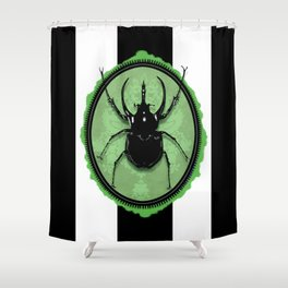 Juicy Beetle GREEN Shower Curtain