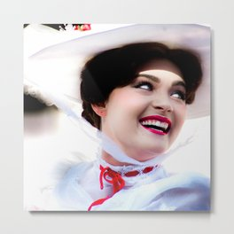 MARY POPPINS - SMILING Metal Print