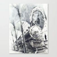 train Canvas Prints featuring Train by Grim Dream Art