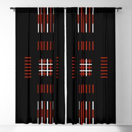 Black White Red Cross Blackout Curtain