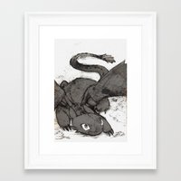 toothless Framed Art Prints featuring Toothless by SpaceMonolith