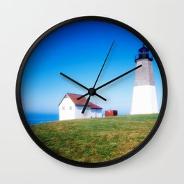 The Point Judith Light is located on the west side of the entrance to Narragansett Bay Wall Clock