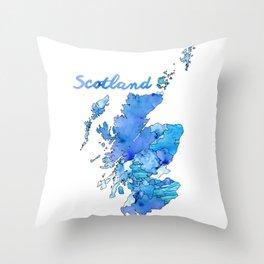 Watercolor Countries - Scotland Throw Pillow