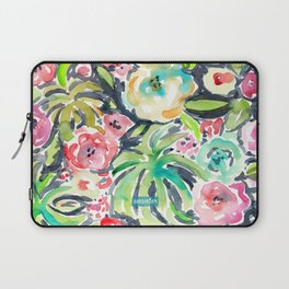 TROPICALIA Watercolor Tropical Floral Laptop Sleeve