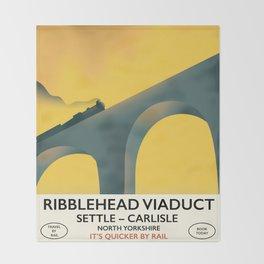 Ribblehead Viaduct Yorkshire Throw Blanket