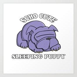 SCHO CUTE SLEEPING PUPPY Art Print