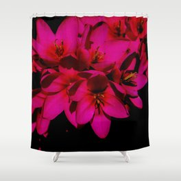 pink flowes Shower Curtain