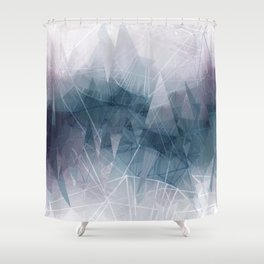 Ameythist Crystal Inspired Modern Abstract Shower Curtain