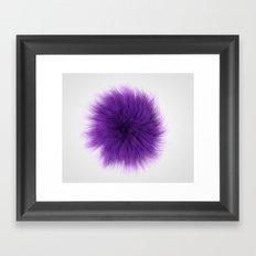 Purple Fuzz Framed Art Print
